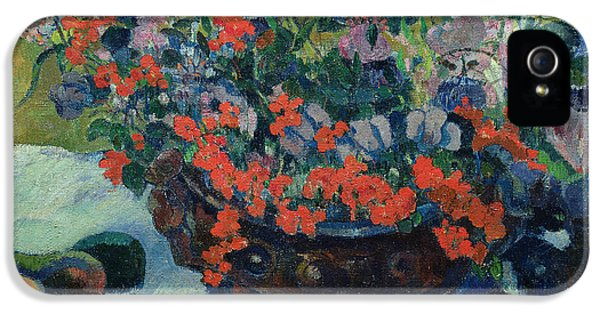 Bouquet Of Flowers IPhone 5 Case by Paul Gauguin