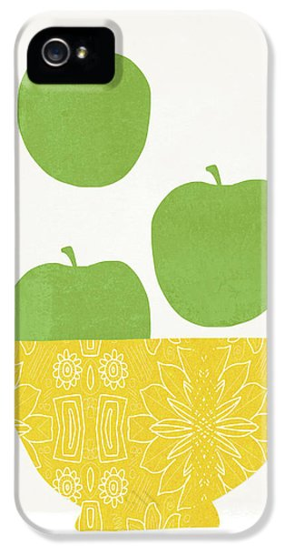 Bowl Of Green Apples- Art By Linda Woods IPhone 5 Case