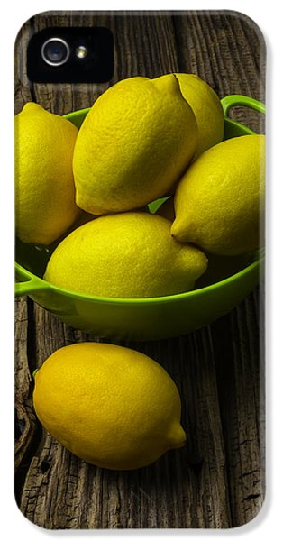 Bowl Of Lemons IPhone 5 Case by Garry Gay