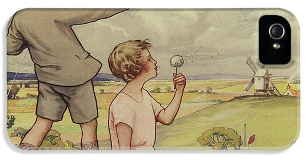 Boy And Girl Flying A Kite IPhone 5 Case by English School