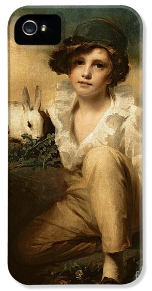 Lettuce iPhone 5 Case - Boy And Rabbit by Sir Henry Raeburn
