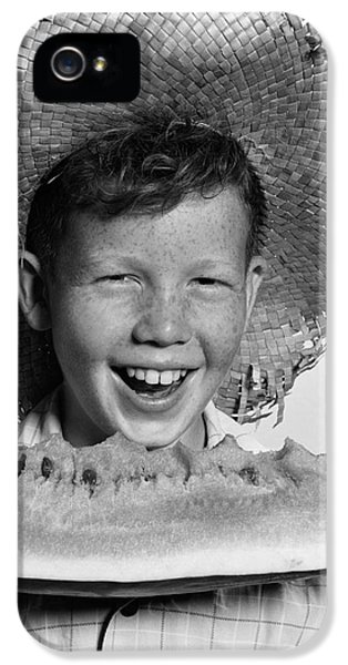 Boy Eating Watermelon, C.1940-50s IPhone 5 / 5s Case by H. Armstrong Roberts/ClassicStock