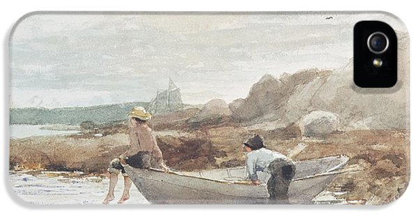 Boys On The Beach IPhone 5 Case by Winslow Homer