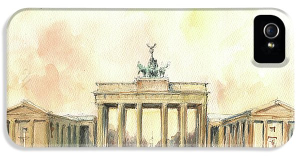 Brandenburger Tor, Berlin IPhone 5 Case by Juan Bosco