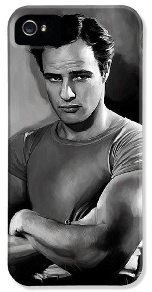 Brando  IPhone 5 Case by Paul Tagliamonte