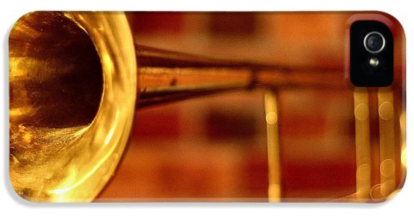 Trombone iPhone 5 Case - Brass Trombone by David  Hubbs