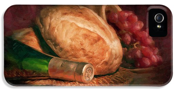 Bread And Wine IPhone 5 Case by Tom Mc Nemar