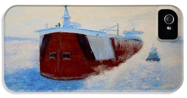 Breaking Ice For The Edgar B. Speer In Sturgeon Bay IPhone 5 Case