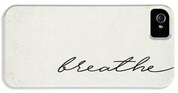 Breathe iPhone 5 Case - Breathe One Word Series by Ricky Barnard