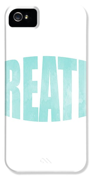 Breathe iPhone 5 Case - Breathe by Studio Grafiikka