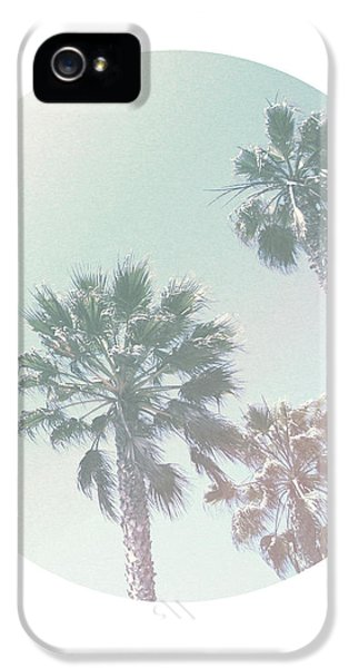 Santa Monica iPhone 5 Case - Breezy Palm Trees- Art By Linda Woods by Linda Woods