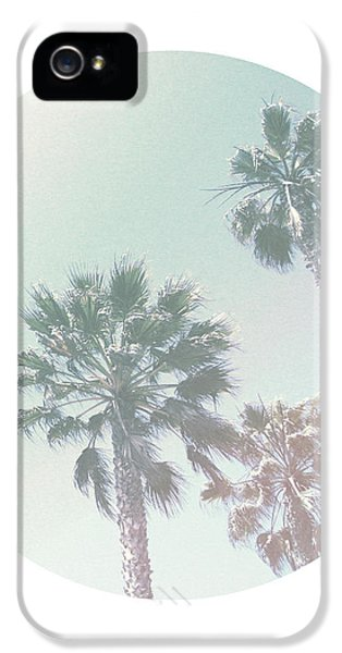 Breezy Palm Trees- Art By Linda Woods IPhone 5 / 5s Case by Linda Woods