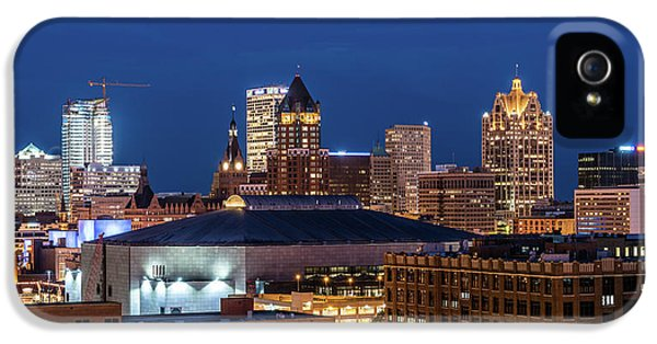 Brew City At Dusk IPhone 5 Case by Randy Scherkenbach