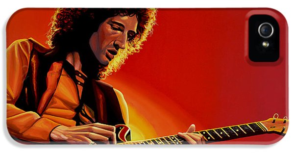 Brian May Of Queen Painting IPhone 5 Case by Paul Meijering