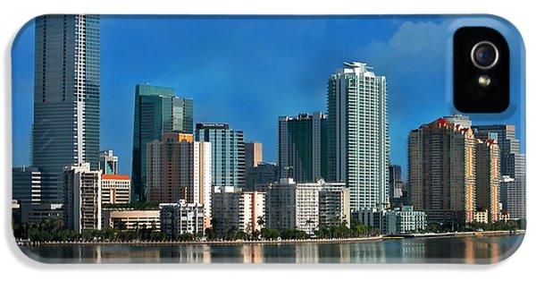 Miami iPhone 5 Case - Brickell Skyline 2 by Bibi Rojas