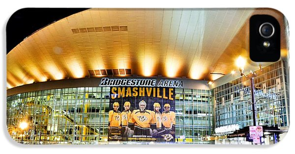 Bridgestone Arena IPhone 5 Case by Lisa Wooten