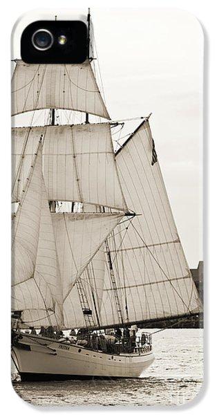 Brigantine Tallship Fritha Sailing Charleston Harbor IPhone 5 Case by Dustin K Ryan