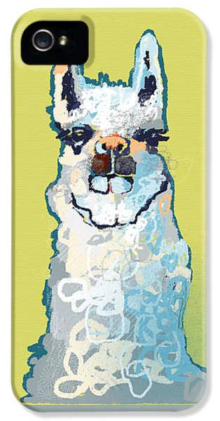 Bright Mustard Llama IPhone 5 Case