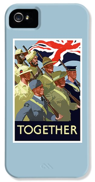 British Empire Soldiers Together IPhone 5 Case by War Is Hell Store