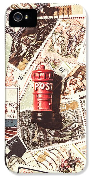 IPhone 5 Case featuring the photograph British Post Box by Jorgo Photography - Wall Art Gallery
