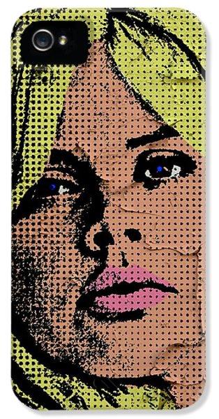 Britt Ekland-3 IPhone 5 Case by Otis Porritt