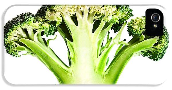 Cross iPhone 5 Case - Broccoli Cutaway On White by Johan Swanepoel