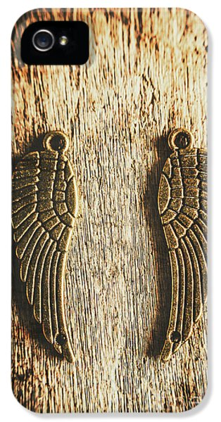 Pendant iPhone 5 Case - Bronze Angel Wings by Jorgo Photography - Wall Art Gallery