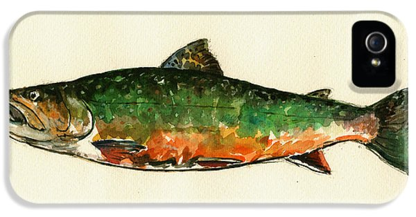 Brook Trout IPhone 5 Case by Juan  Bosco