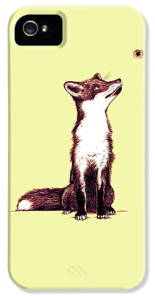 Brown Fox Looks At Thing IPhone 5 Case