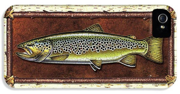Brown Trout Lodge IPhone 5 / 5s Case by JQ Licensing
