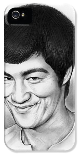 Bruce Lee IPhone 5 Case by Greg Joens