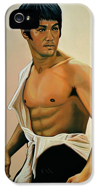 Bruce Lee Painting IPhone 5 Case