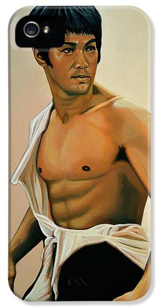 Bruce Lee Painting IPhone 5 Case by Paul Meijering
