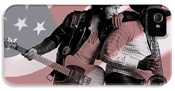 Bruce Springsteen Clarence Clemons IPhone 5 Case by Marvin Blaine