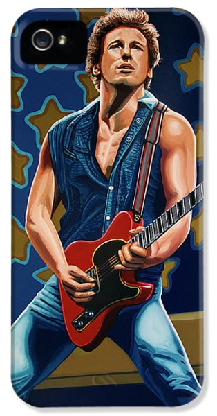 Bruce Springsteen The Boss Painting IPhone 5 Case