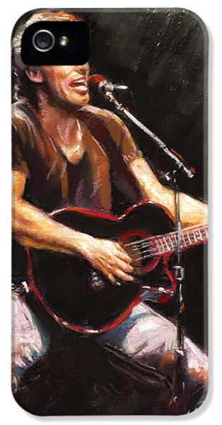 Rock And Roll iPhone 5 Cases - Bruce Springsteen  iPhone 5 Case by Ylli Haruni