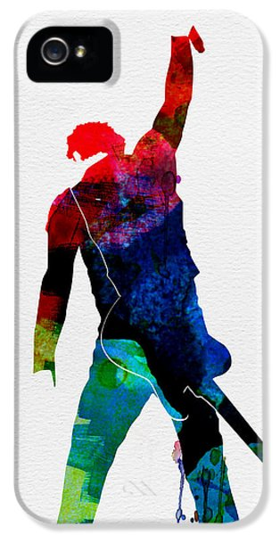 Bruce Watercolor IPhone 5 Case by Naxart Studio