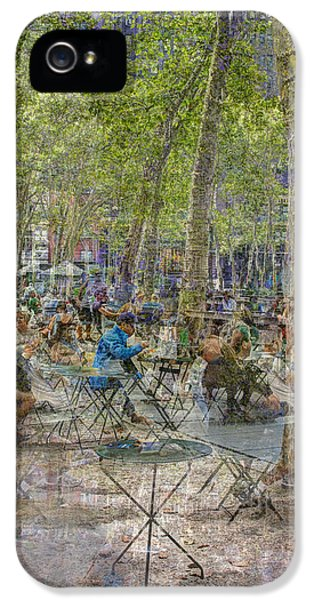 Bryant Park Collage 2 IPhone 5 Case by Dave Beckerman