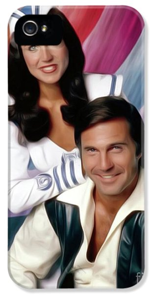 Gil iPhone 5 Case - Buck Rogers, Gil Gerard And Erin Gray by Mary Bassett