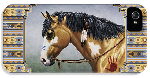 Buckskin Native American War Horse Southwest IPhone 5 Case by Crista Forest