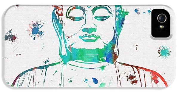 Breathe iPhone 5 Case - Buddha Color Paint Splatter by Dan Sproul