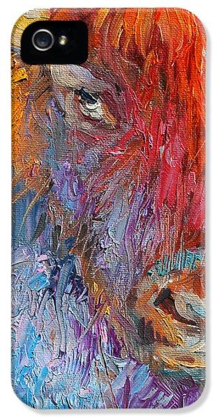 Austin iPhone 5 Case - Buffalo Bison Wild Life Oil Painting Print by Svetlana Novikova