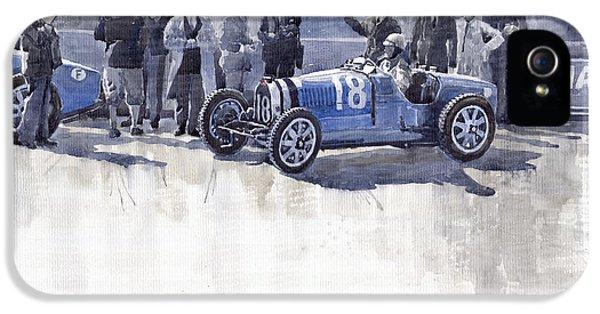 Bugatti 35c Monaco Gp 1930 Louis Chiron  IPhone 5 Case by Yuriy  Shevchuk