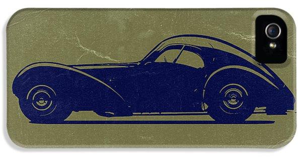 Bugatti Classic Car iPhone 5 Cases - Bugatti 57 S Atlantic iPhone 5 Case by Naxart Studio