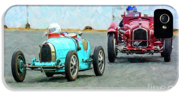 Bugatti Type 35 And An Afla Romeo P3 At Sonoma IPhone 5 Case by Tad Gage