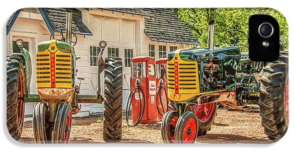 Oliver Tractor iPhone 5 Case - Burg Pull Olivers by Trey Foerster