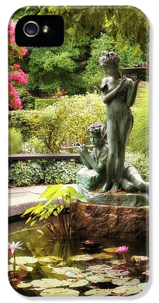 Burnett Fountain Garden IPhone 5 Case by Jessica Jenney