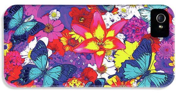 Fairy iPhone 5 Case - Butterflies And Flowers by JQ Licensing
