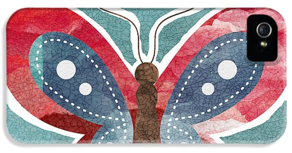 Insect iPhone 5 Case - Butterfly Freedom by Linda Woods