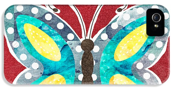 Insect iPhone 5 Case - Butterfly Liberty by Linda Woods